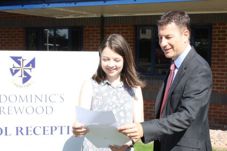 St Dominic's A levels exam success