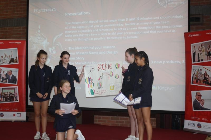 Children presenting their work