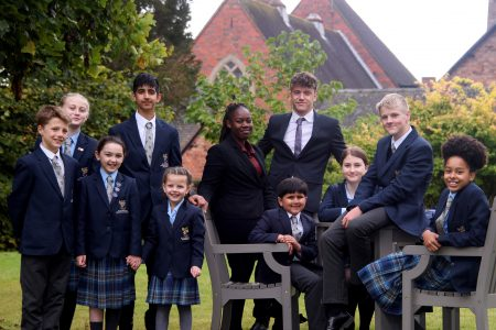 Pupils at St Dominic's Grammar School